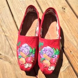 Hand Painted Toms Shoes