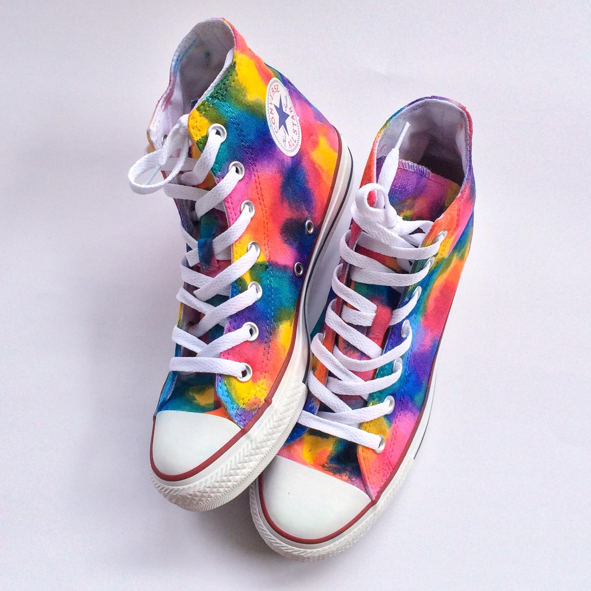 Rainbow Tie Dye Converse Shoes
