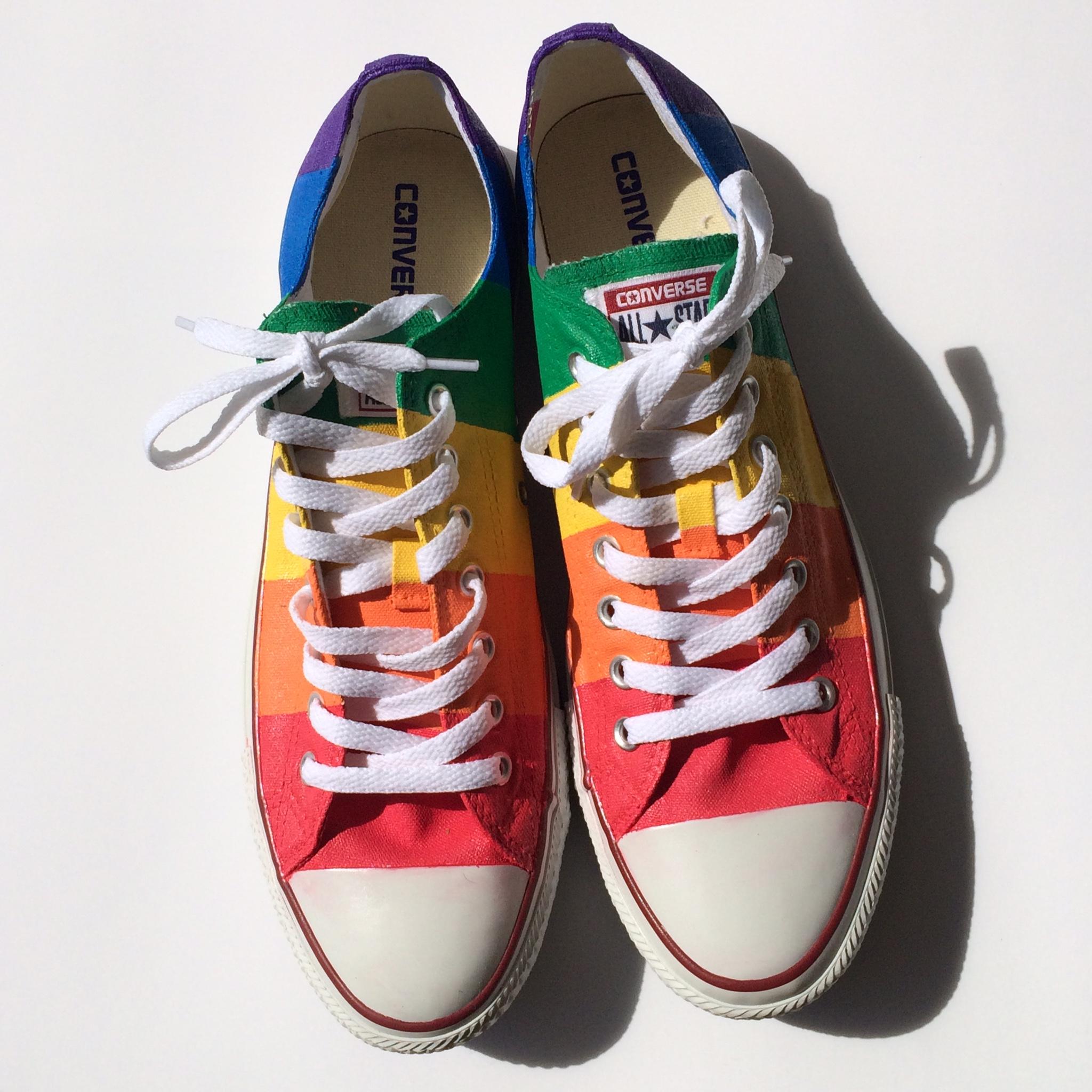 Gay pride converse shoes