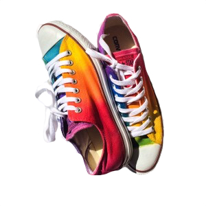 Rainbow Tie Dye Shoes