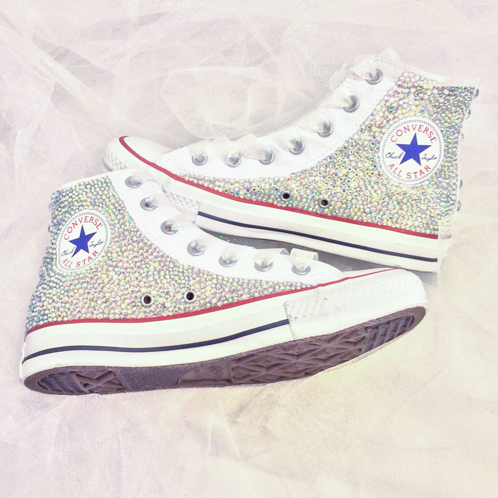 Rhinestone High Top Converse 07131d7a3