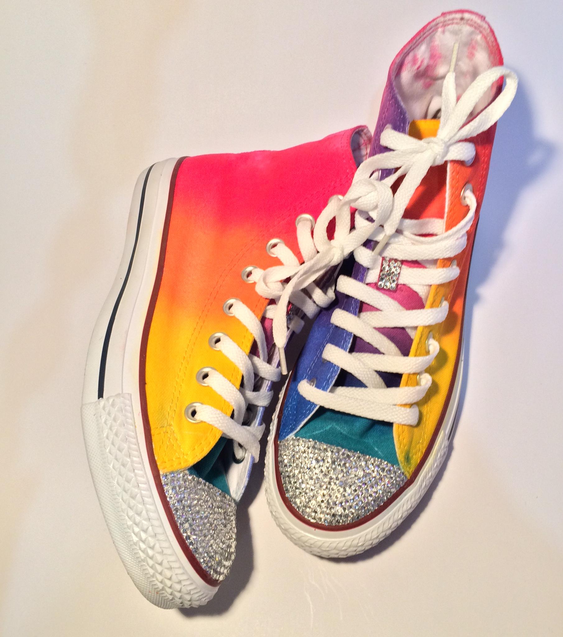 d0abf163226ae Rainbow Rhinestone Converse