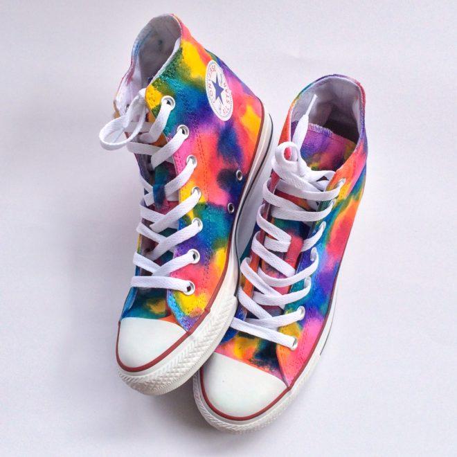 Color Blocked Gay Pride Rainbow Flag Custom Converse
