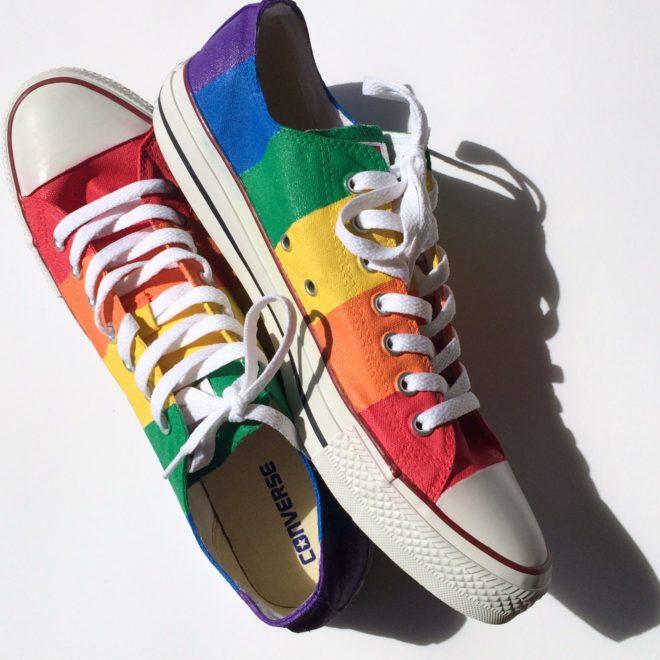 Rainbow Gay Pride Converse Low Top