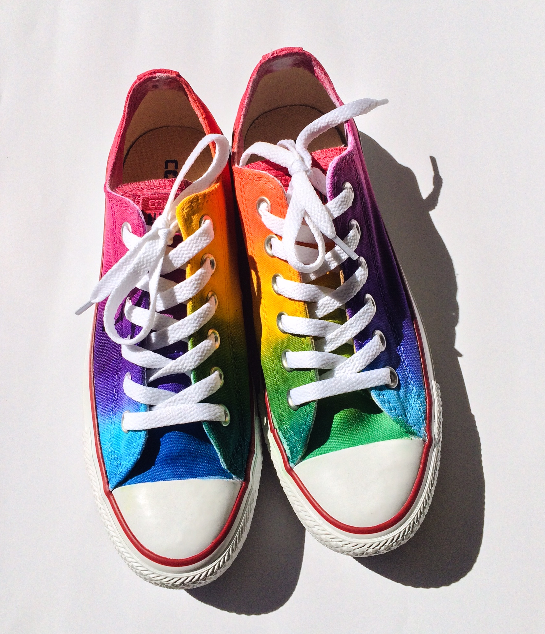 90fbced21f6b Rainbow Low Top Converse