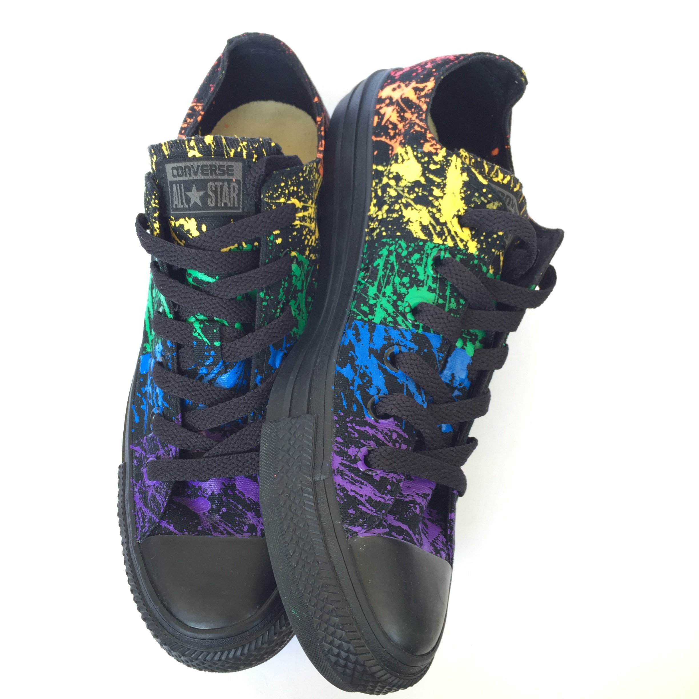 "a12f1b144ffd Gay Pride Rainbow Paint Splatter Converse ""The Makaela ..."