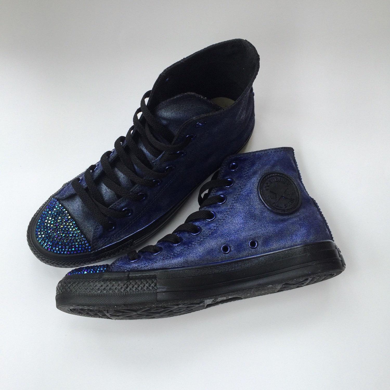 2be90ca1a457 Goth Glam Iridescent Rhinestone Converse