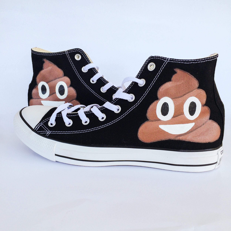 d395acbb0ee5 Poop Emoji Converse