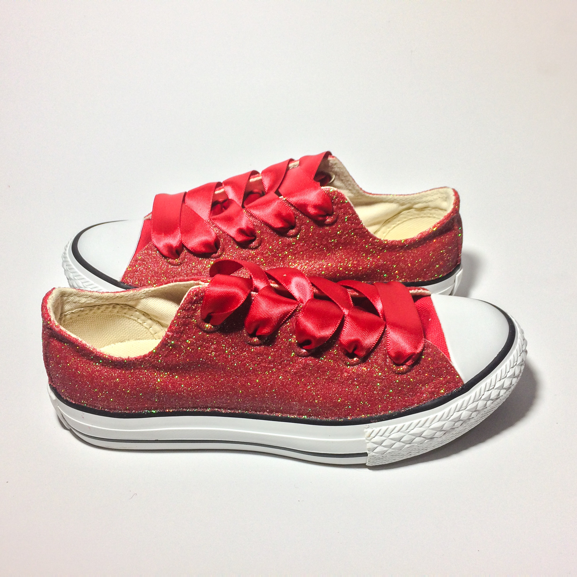 466e2e12e510 Red Glitter Ruby Slippers Converse