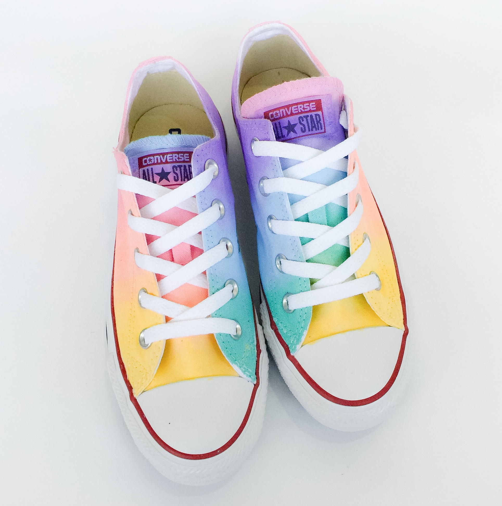 Pastel Rainbow Low Top Converse  c888eb6db