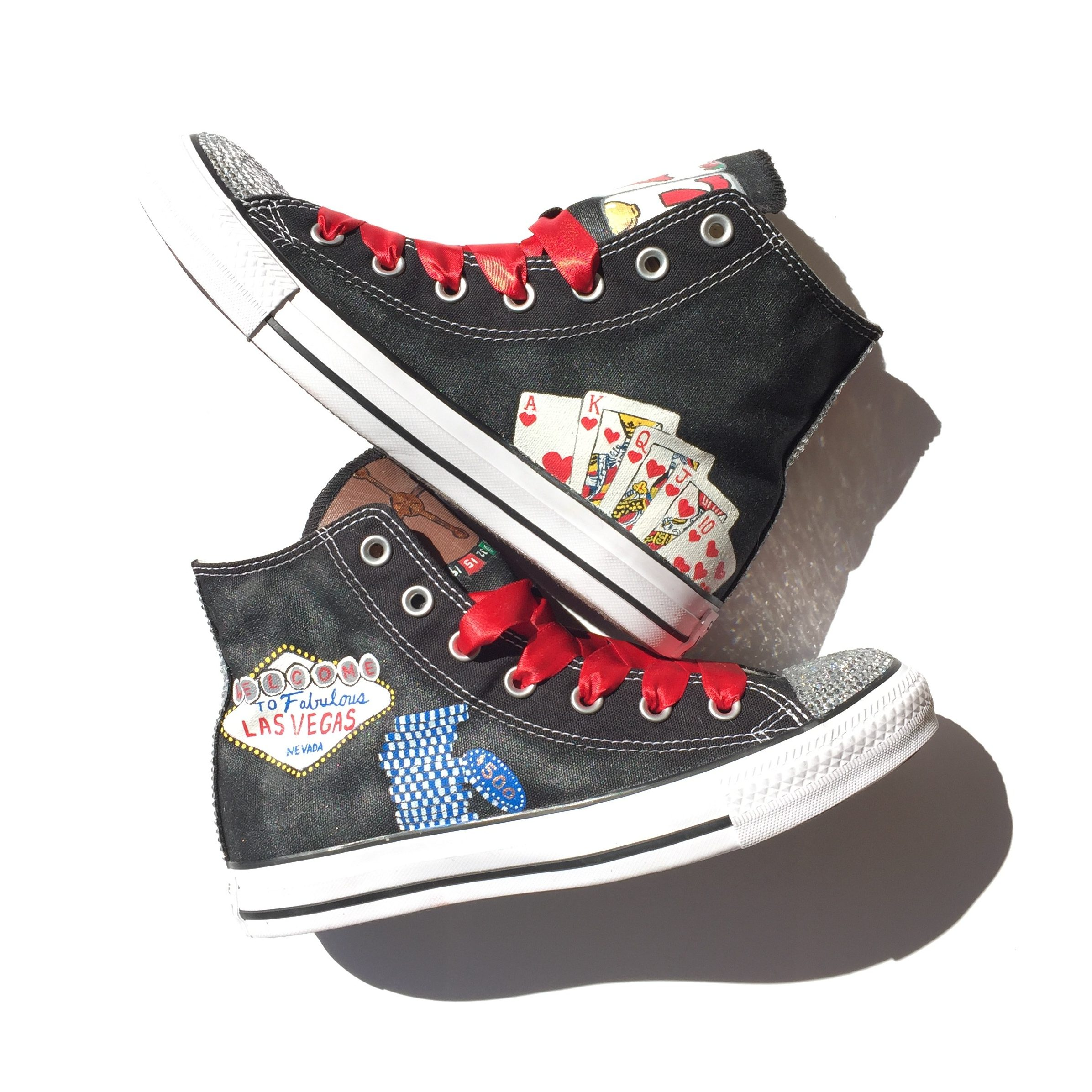 968791ff3b64 Las Vegas Themed Custom Converse