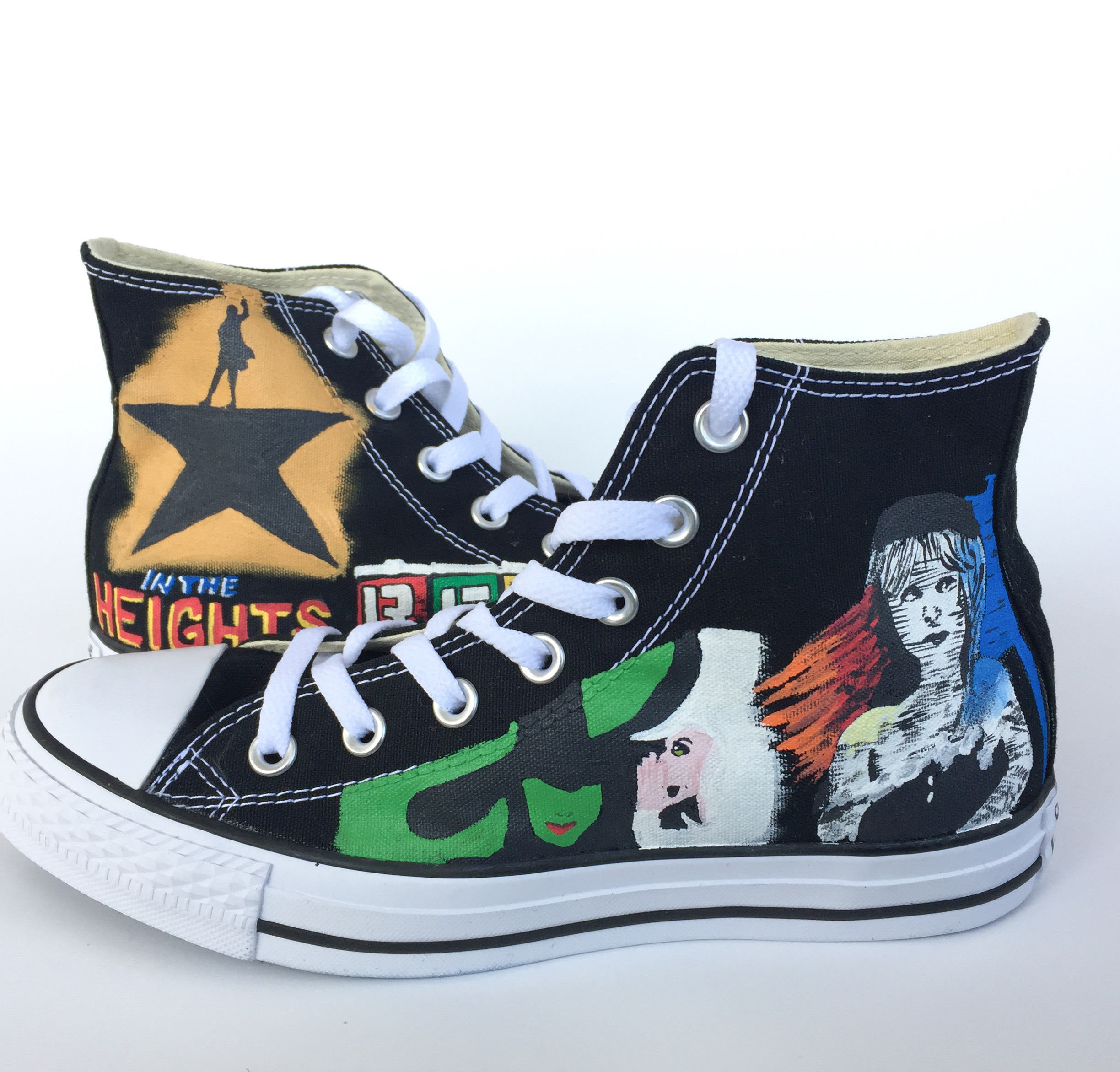 ed750dd14607 Broadway Musical Themed Custom Converse